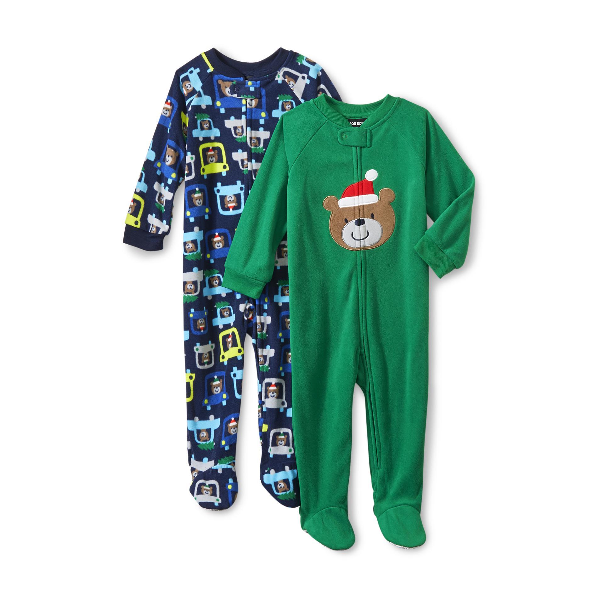 Boys Christmas Footed Pajamas