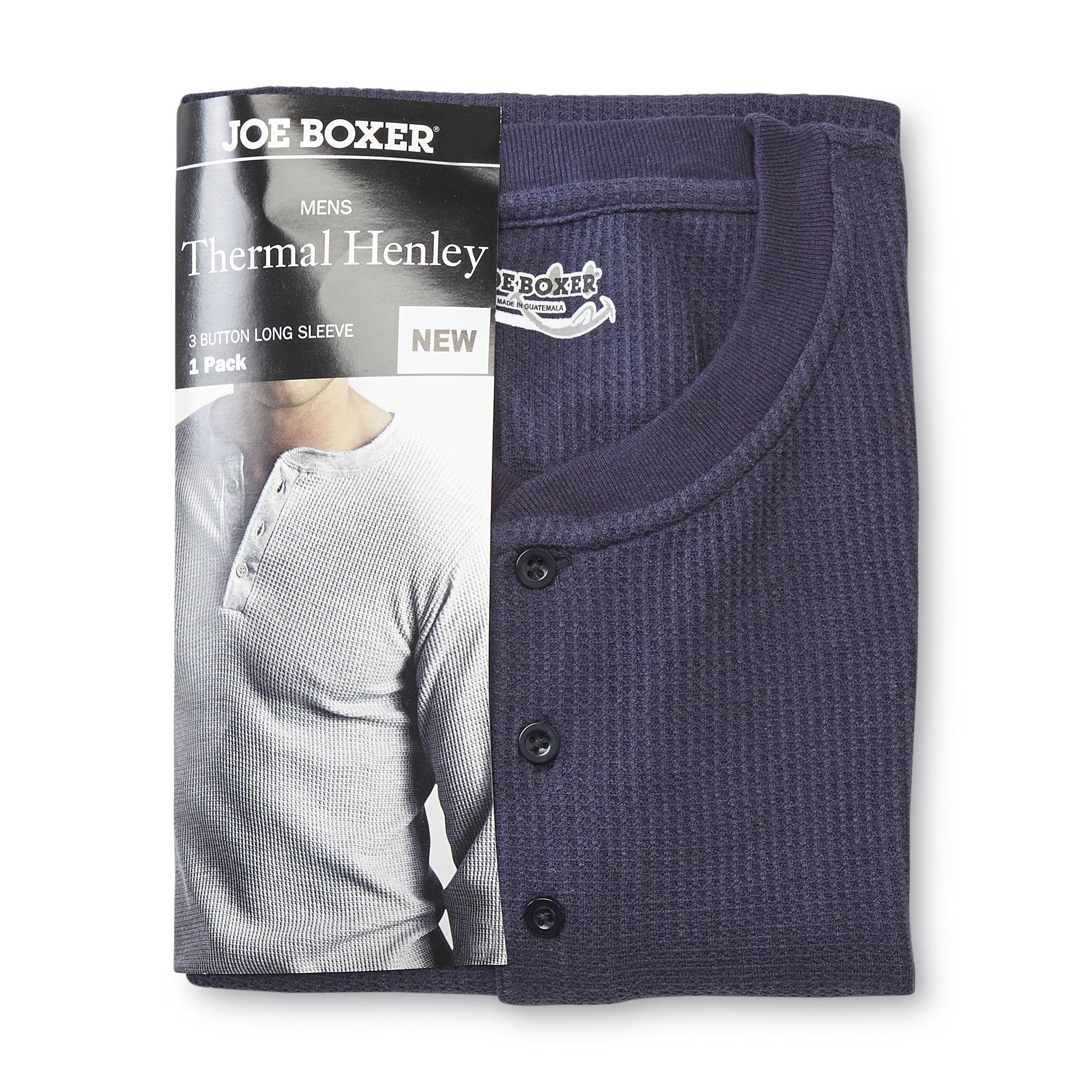 Joe Boxer Men' Thermal Henley Shirt - Clothing Shoes & Jewelry