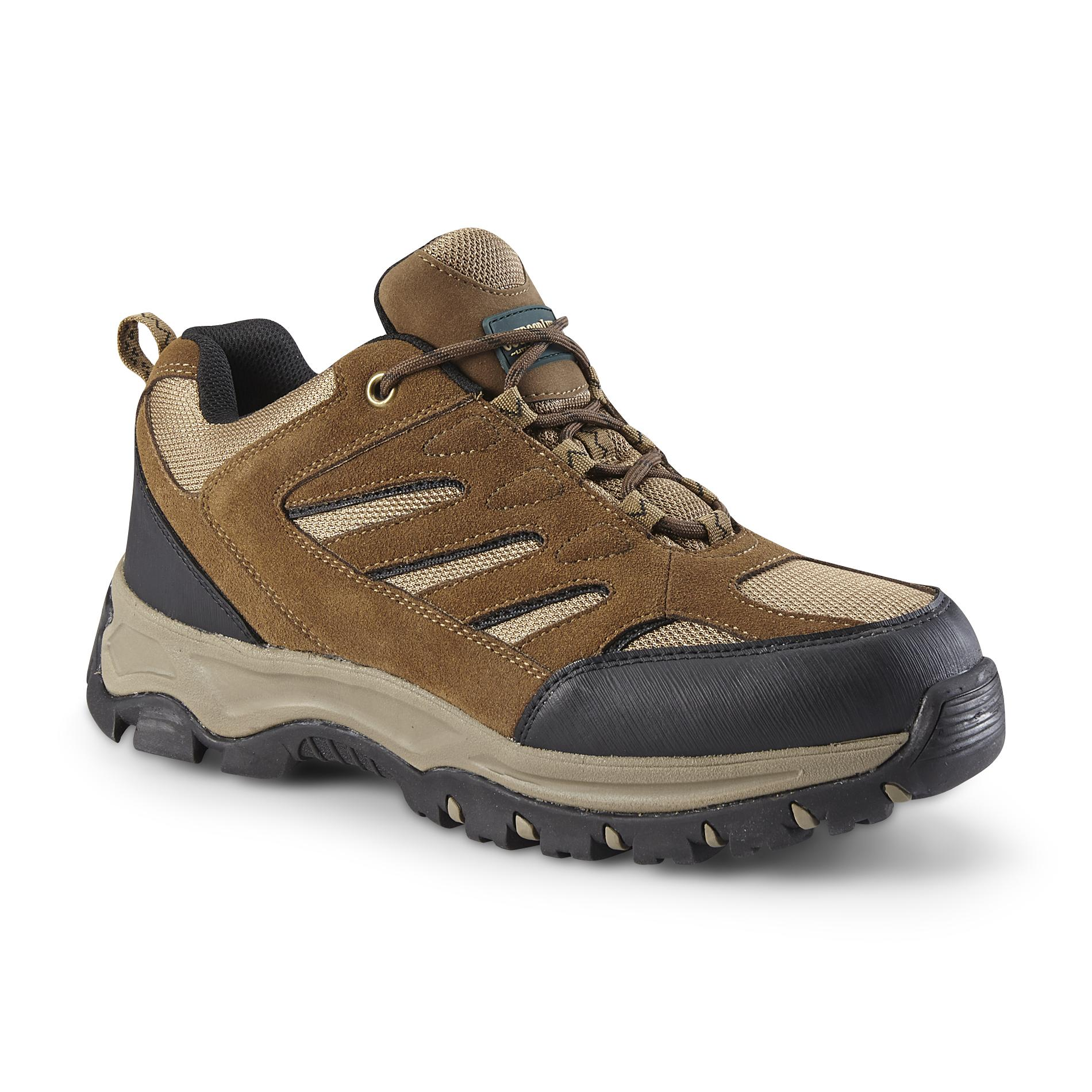 Outdoor Life Mens Clark SuedeMesh Hiking Shoe Brown