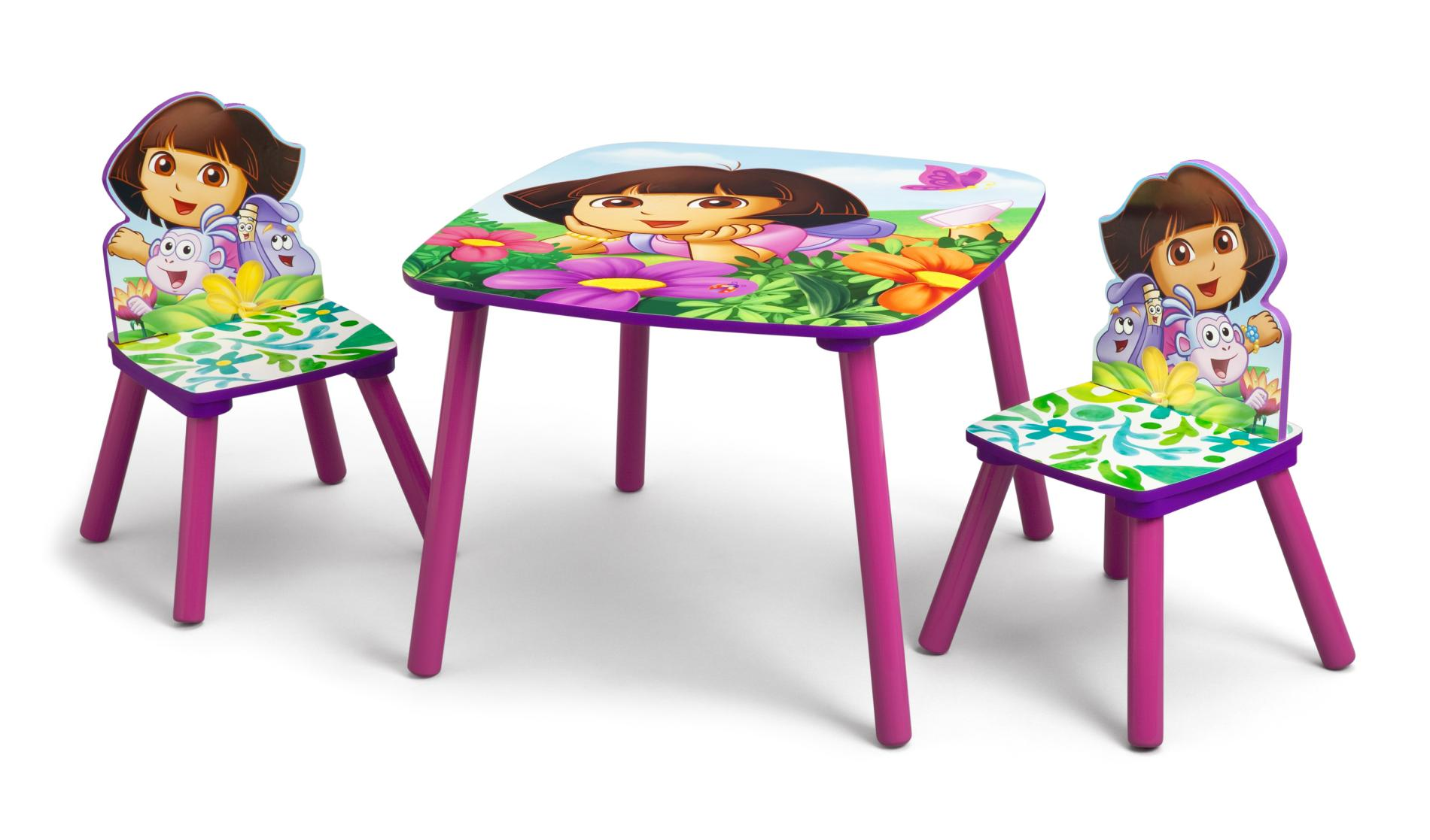 kids table and chair set kmart knoll rocking nickelodeon dora the explorer toddler 2 chairs