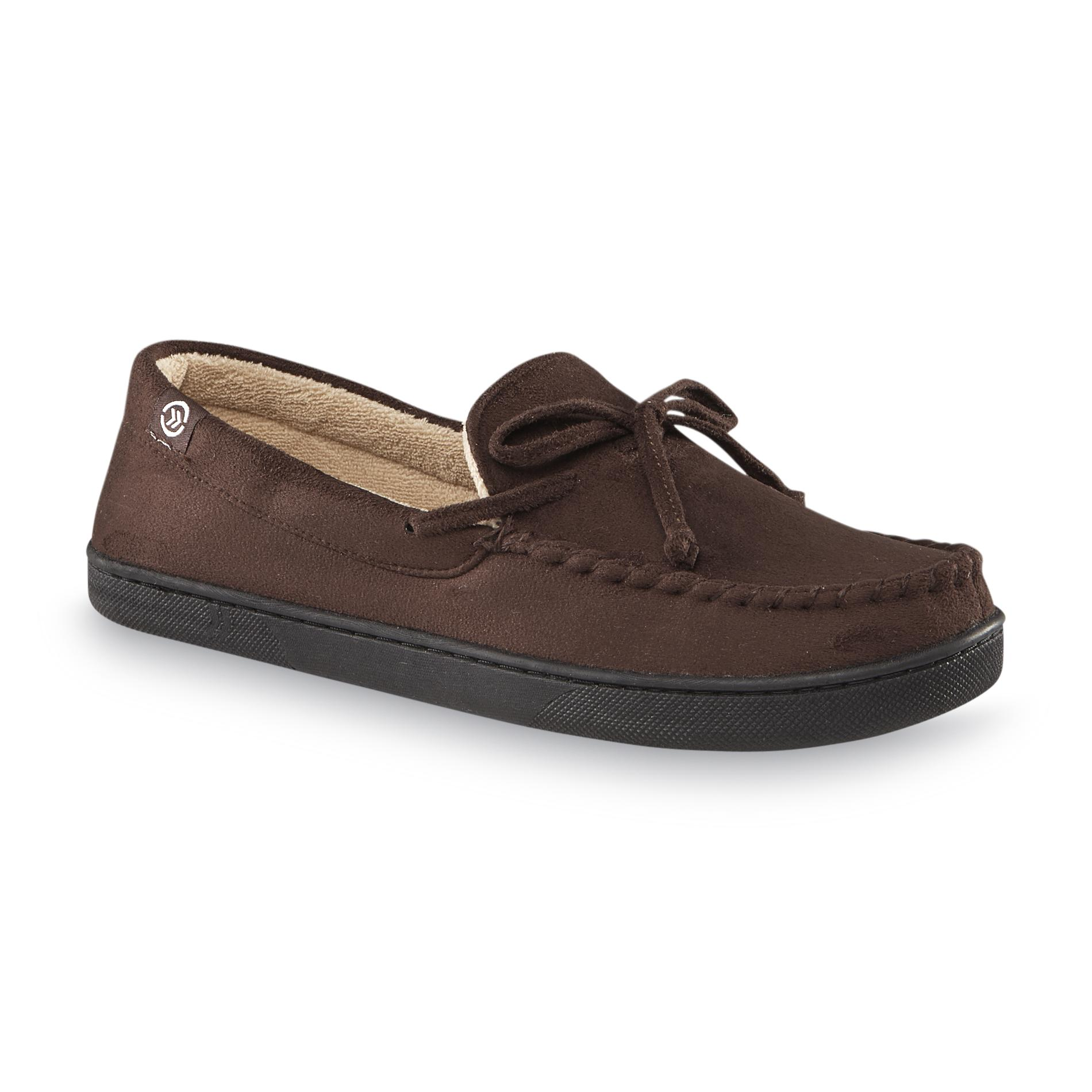 also isotoner men   moccasin slipper brown rh sears