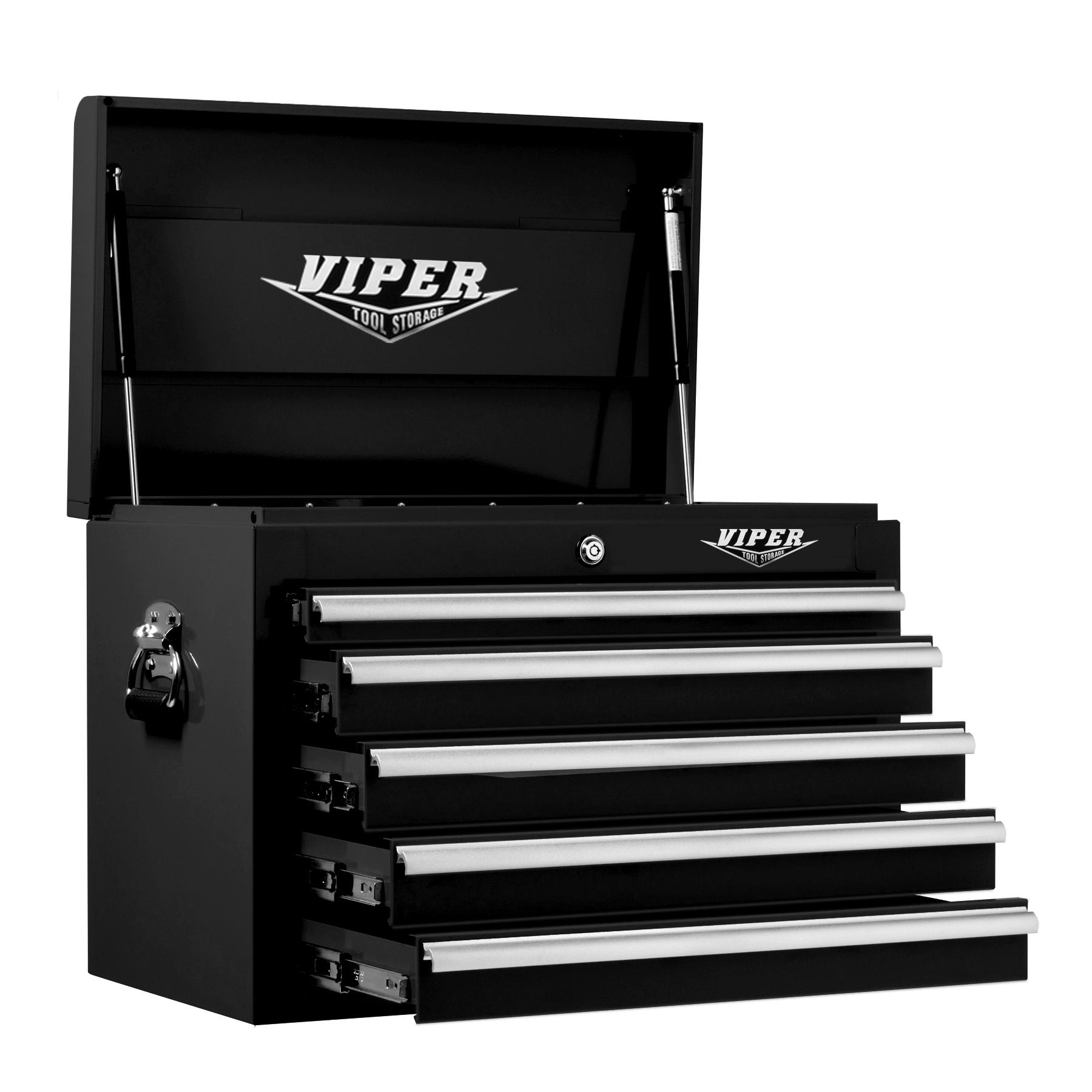 Viper Tool Storage 26 5 Drawer 18G Steel Top Chest Black