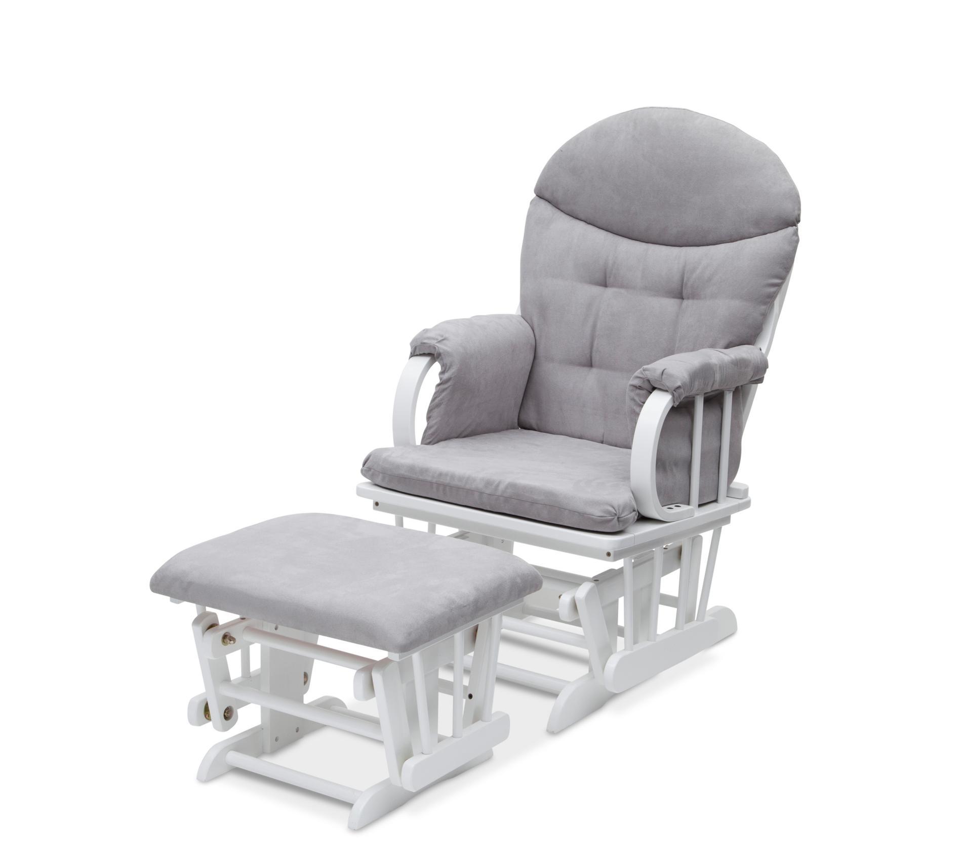 childcare glider rocking chair ottoman walnut swivel ikea delta children and