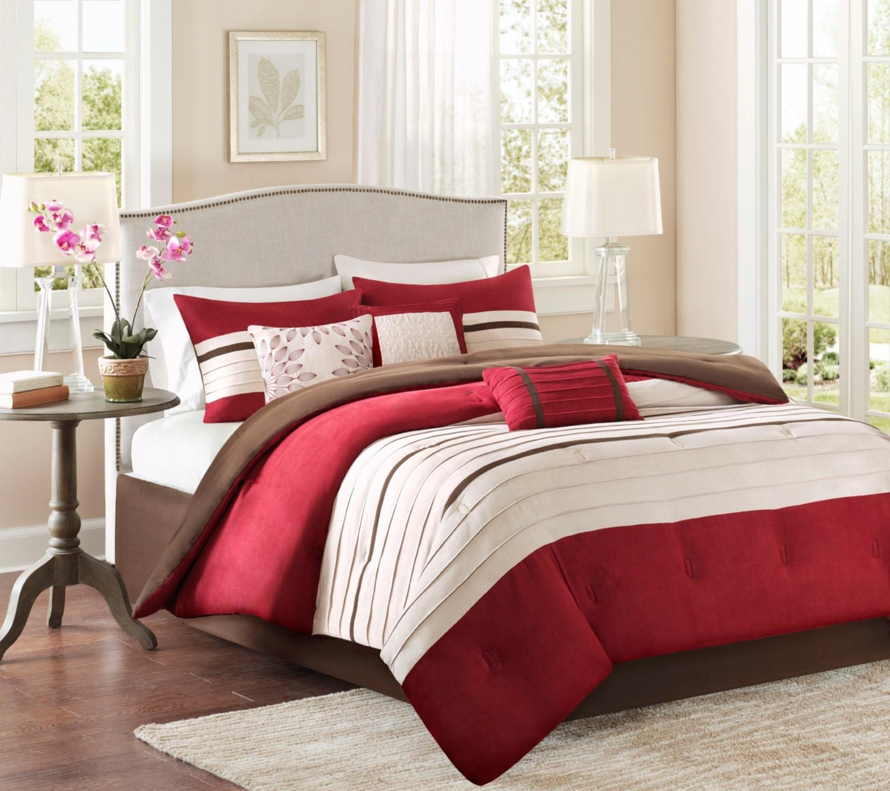 Cannon 7-piece Palmer Microsuede Comforter Set - Pleated