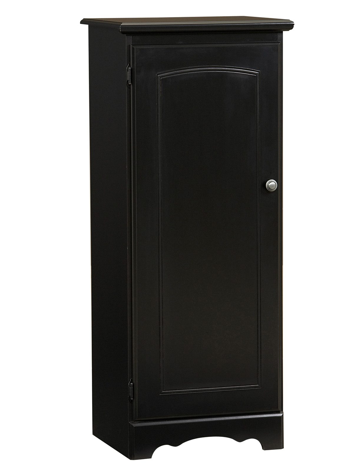 narrow kitchen base cabinet cabinets from china lane furniture 3 shelf pantry in black home