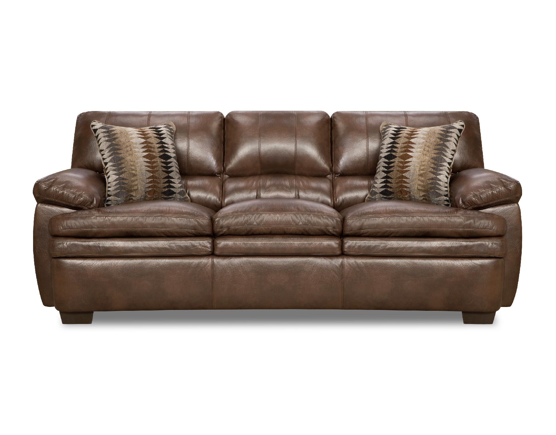 leather sofa bed sears white contemporary set simmons three cushion split back editor arm