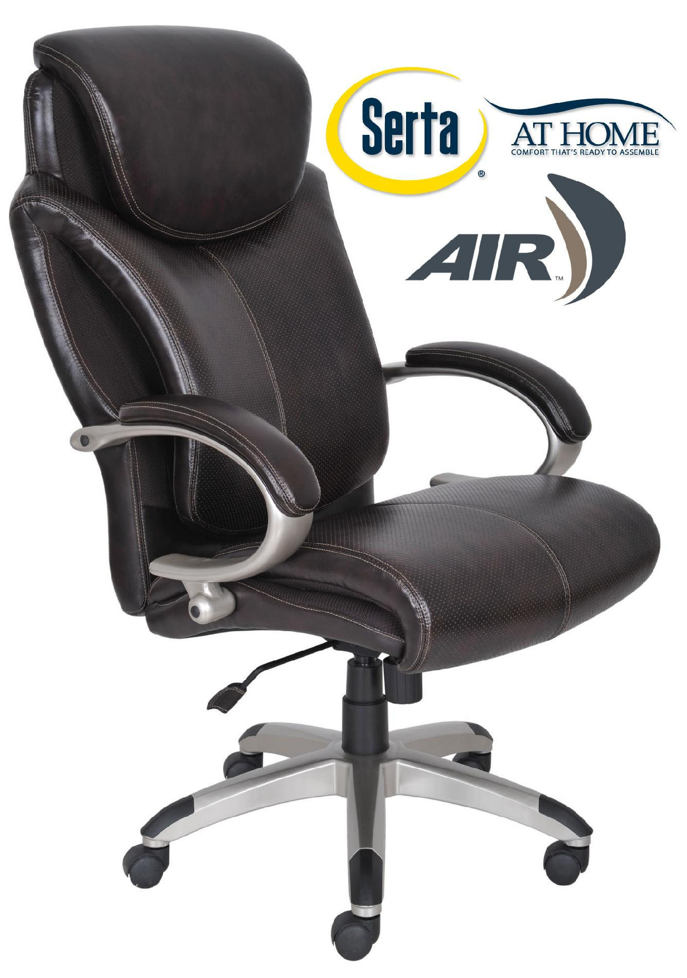 serta bonded leather executive chair desk inexpensive air health and wellness big tall office