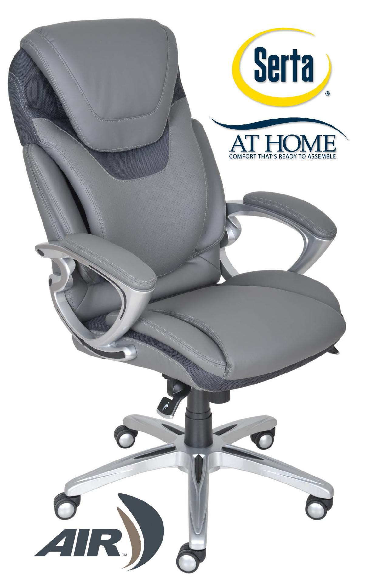 serta bonded leather executive chair oversized ottoman air health and wellness office eco