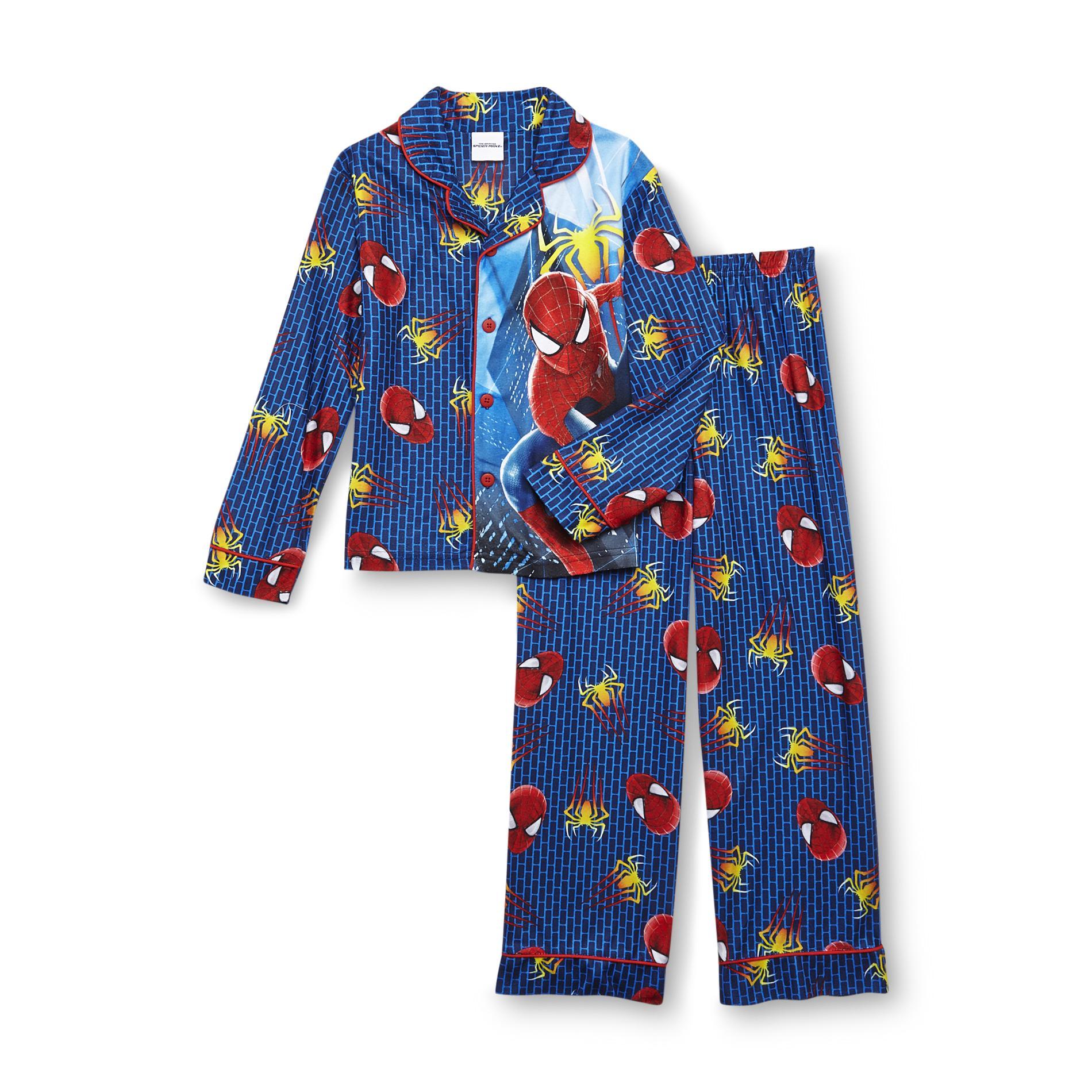 Marvel Amazing Spider-man 2 Boy' Button-front Pajamas