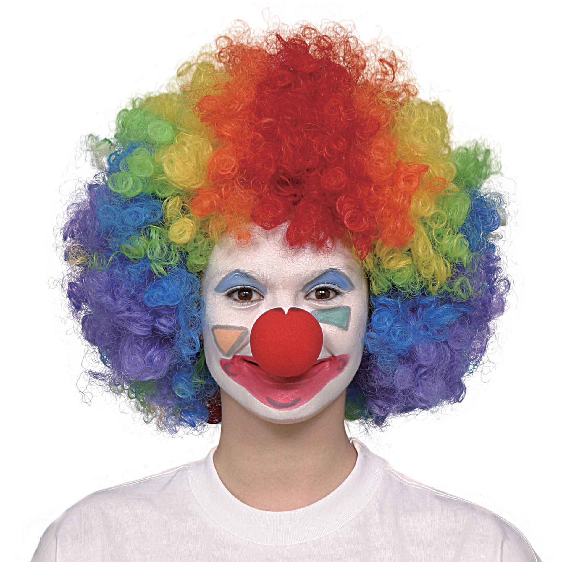 Totally Ghoul Rainbow Clown Wig