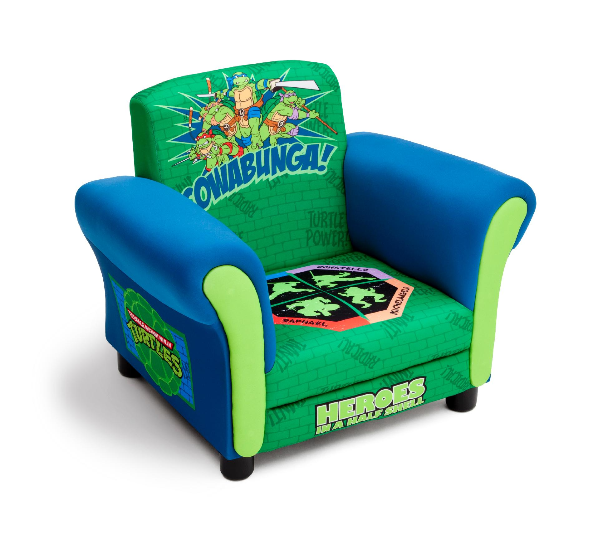ninja turtles chair white office ikea delta children turtle upholstered baby