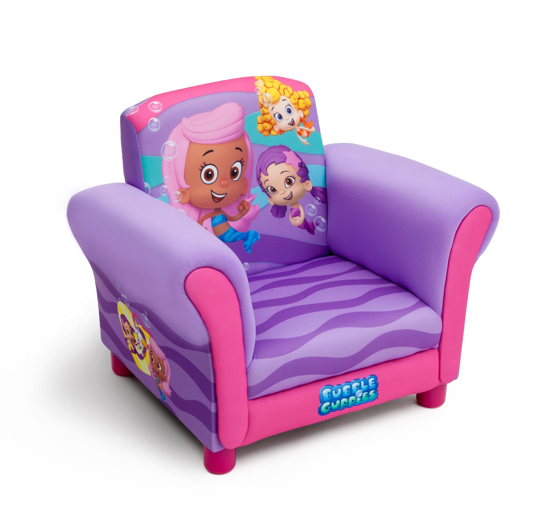Upholstered Toddler Chair Delta Children Bubble Guppies Upholstered Chair Baby