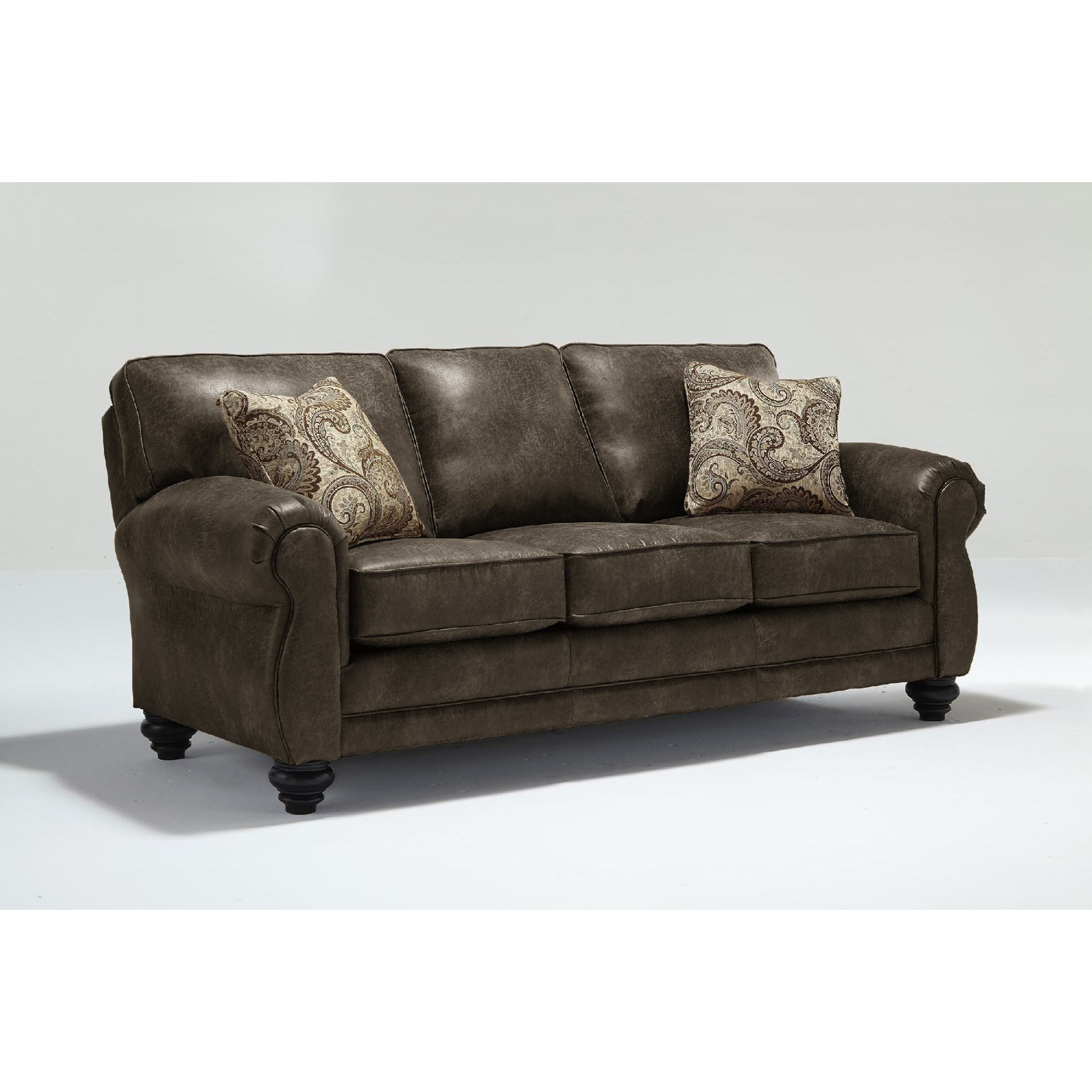 leather sofa bed sears brand quality ratings best home furnishings bonded tucson three cushion