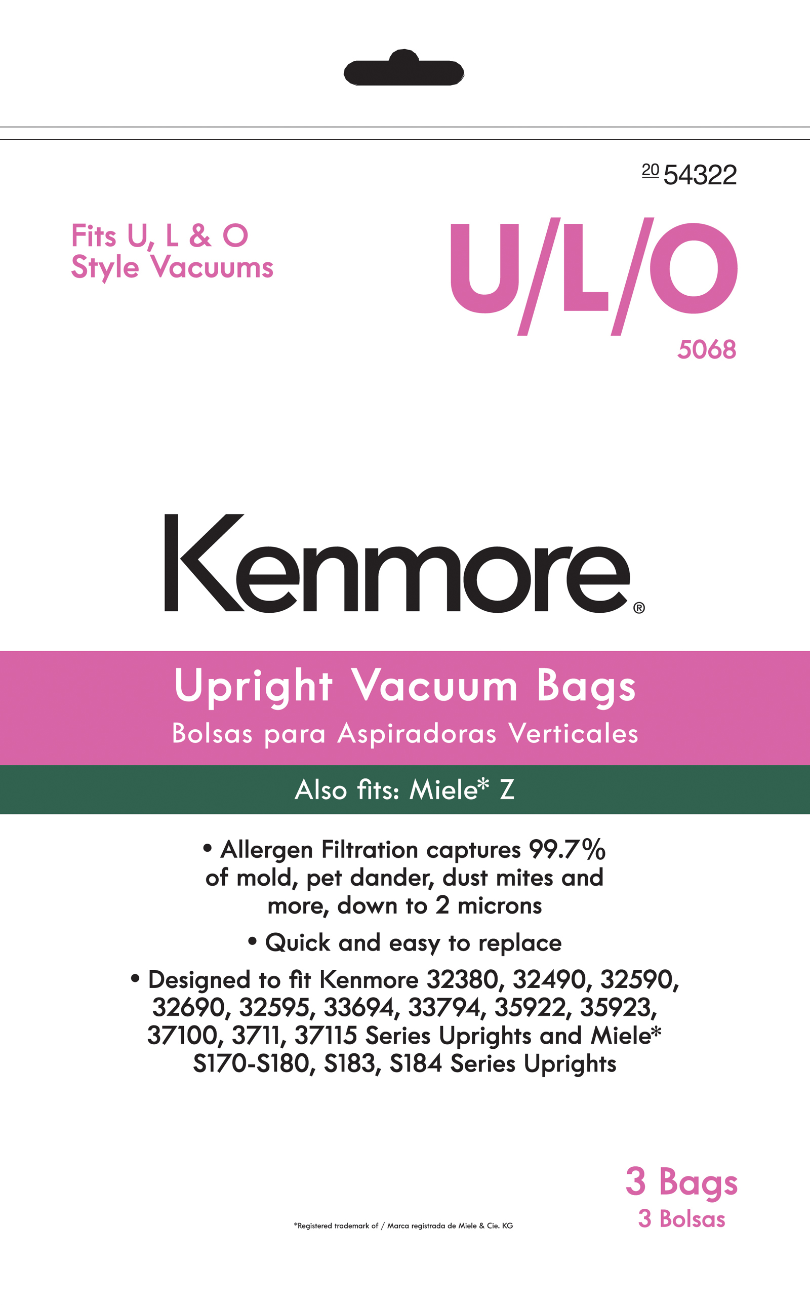 Kenmore km upright vacuum bag for    miele also vacuums floor care parts accessories bags sears rh