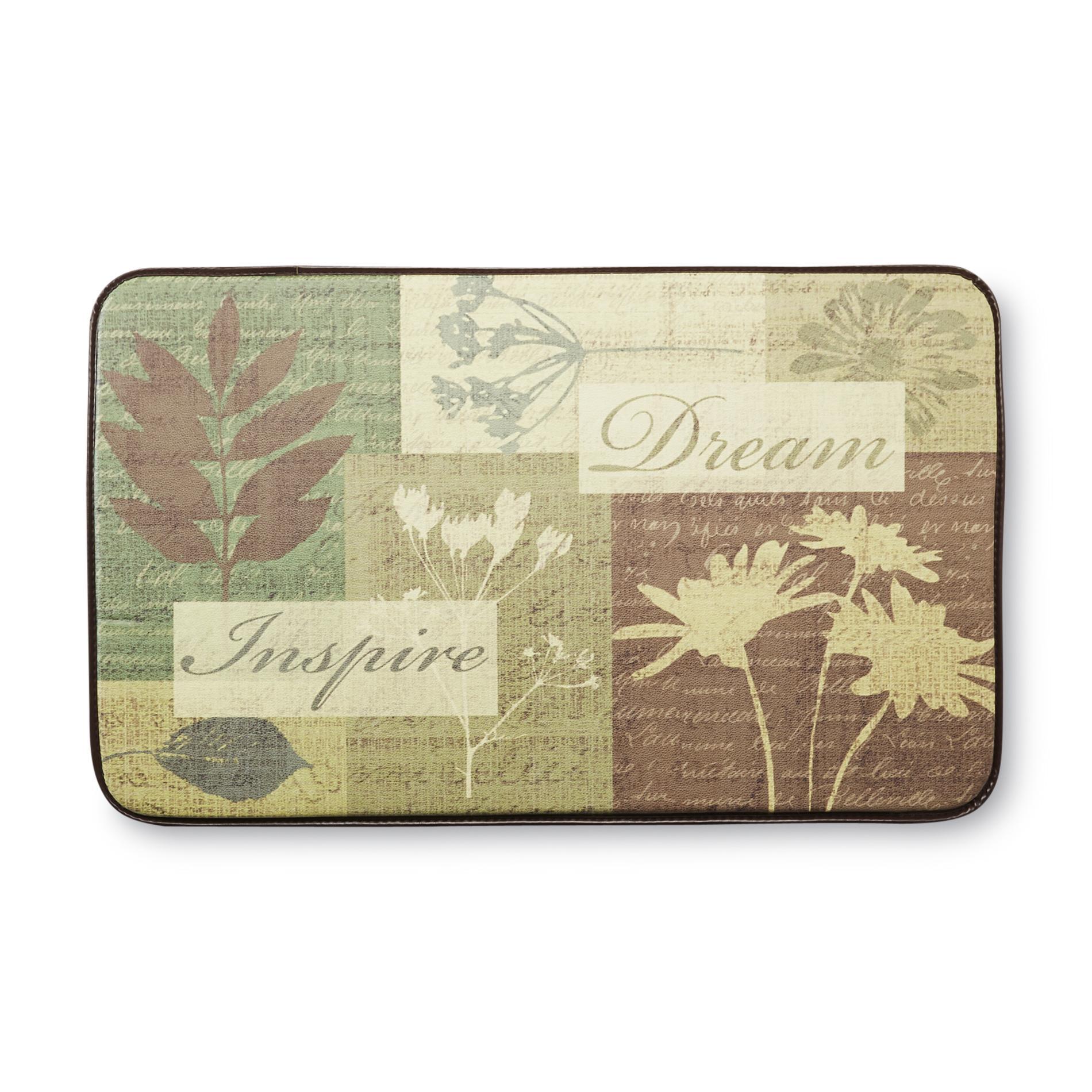 cushioned kitchen mats cabinet sliding shelves chef floor mat floral shop your