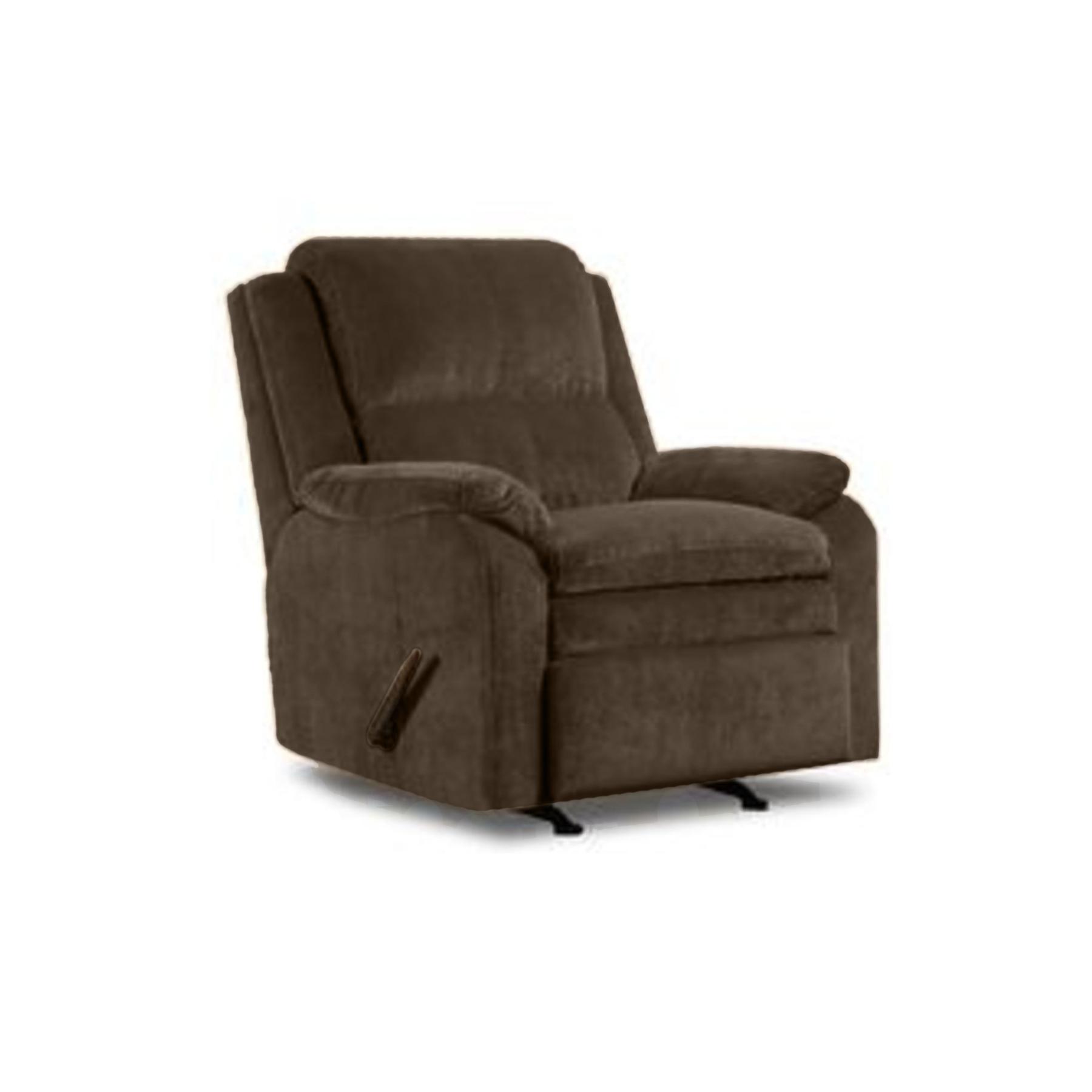 sears recliner chairs walmart beach chair simmons upholstery brown pub back rocker shop