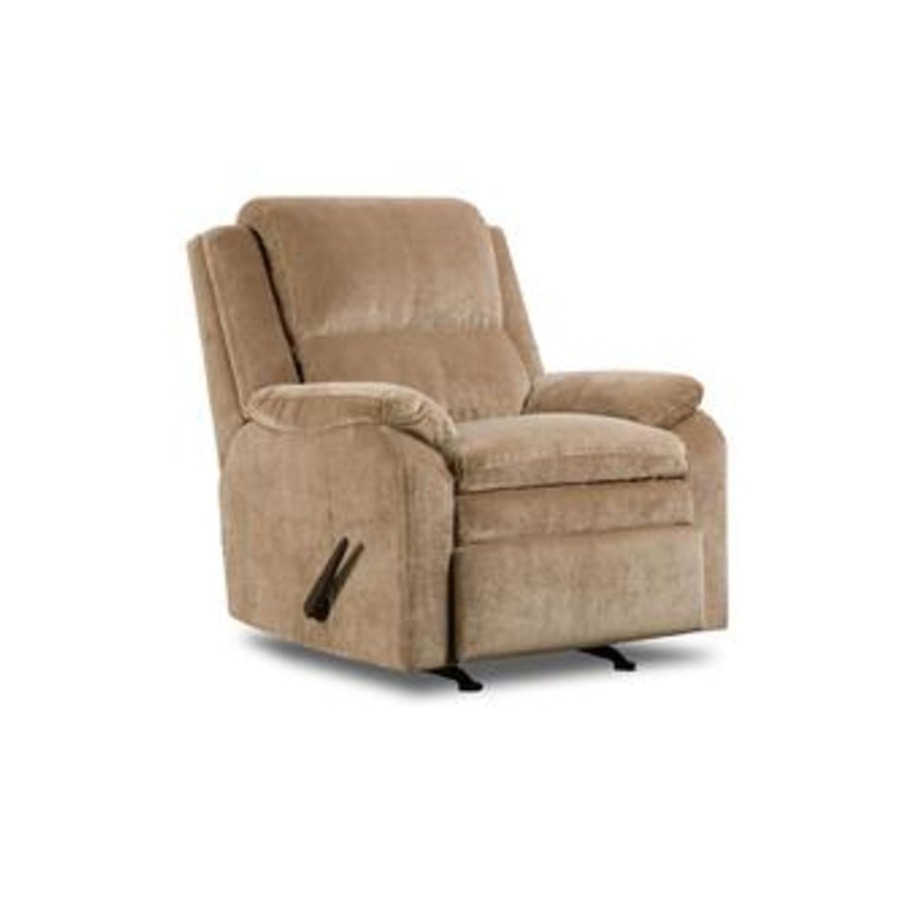 sears recliner chair covers massage pad simmons upholstery tan bixby ii high back rocker