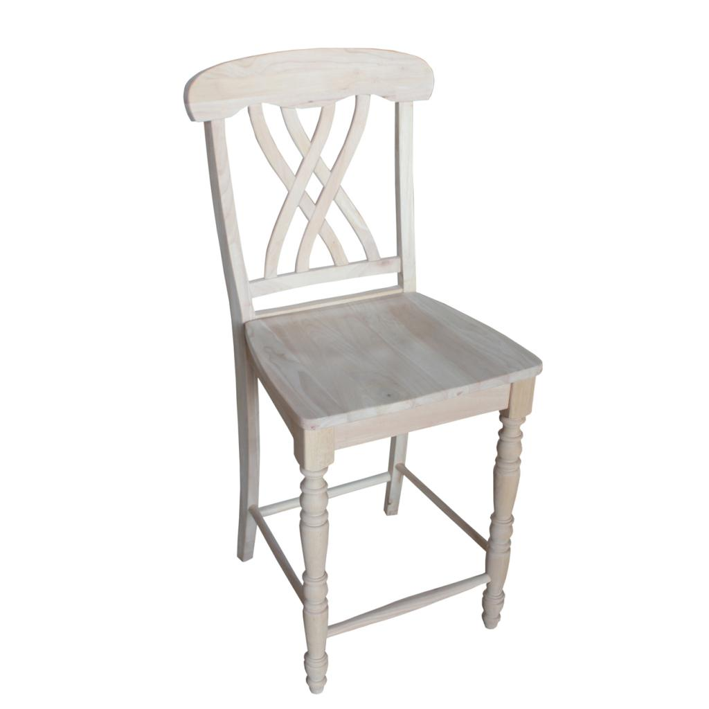 24 inch counter chairs dining room high chair covers international concepts lattice height