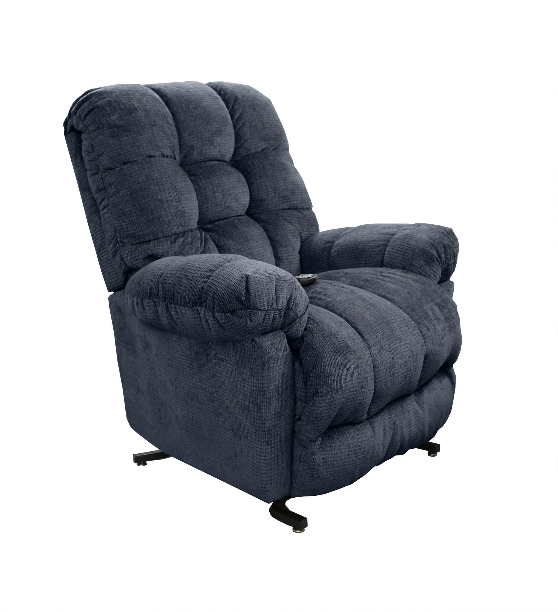 la z boy lift chair hand control navy blue club sears recliners chairs
