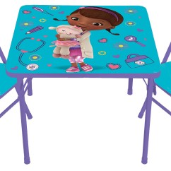 Doc Mcstuffins Erasable Activity Table And Chair Set Blue Mexican Chairs For Restaurant Disney Girls By Kids Only