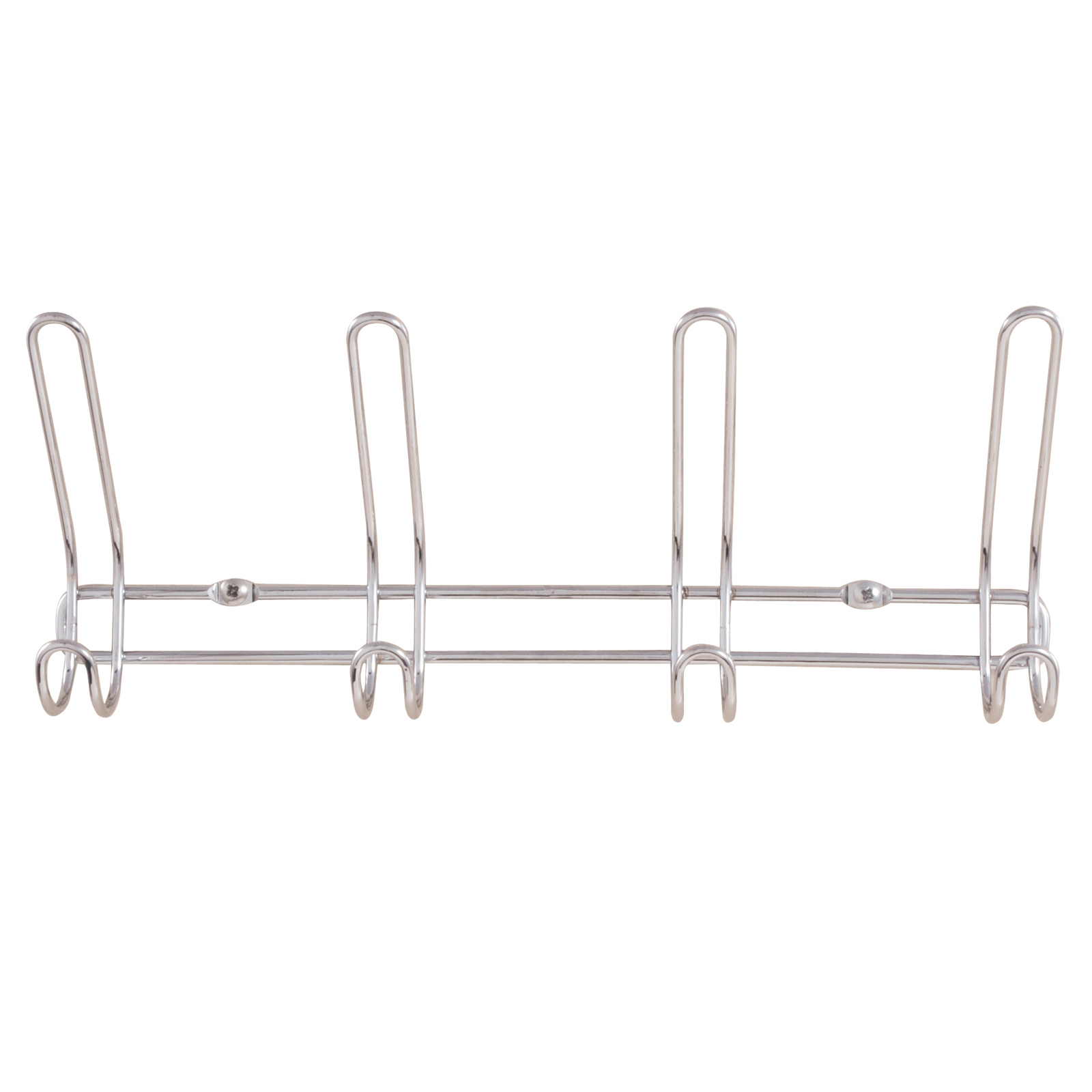 Exquisite 4 Double Wire Hook Organizer Wall Mount Chrome