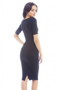 AX Paris Women's Plain Fitted Three Quarter Sleeve Black ...
