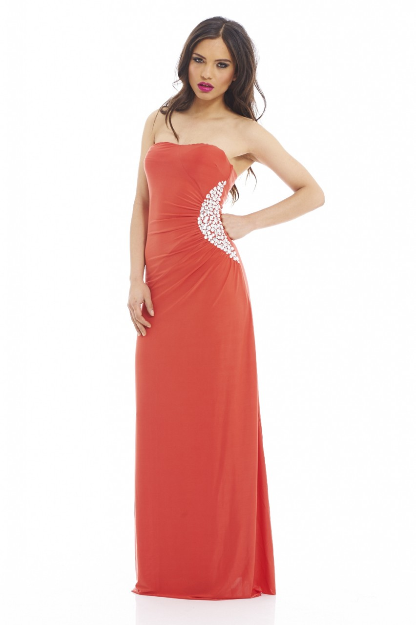 Coral Maxi Dresses for Women