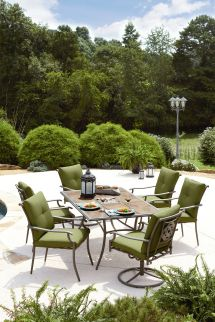 Garden Oasis Emery 7 Piece Cushion Dining Set - Green