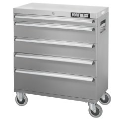 Stainless Steel Kitchen Cart With Drawers Appliances Sale Fortress 32 Inch Wide 5 Drawer Rolling