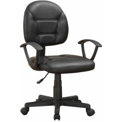 Spinning Top Chair South Africa Blue And White Venetian Worldwide Olson Leatherette Office In Black