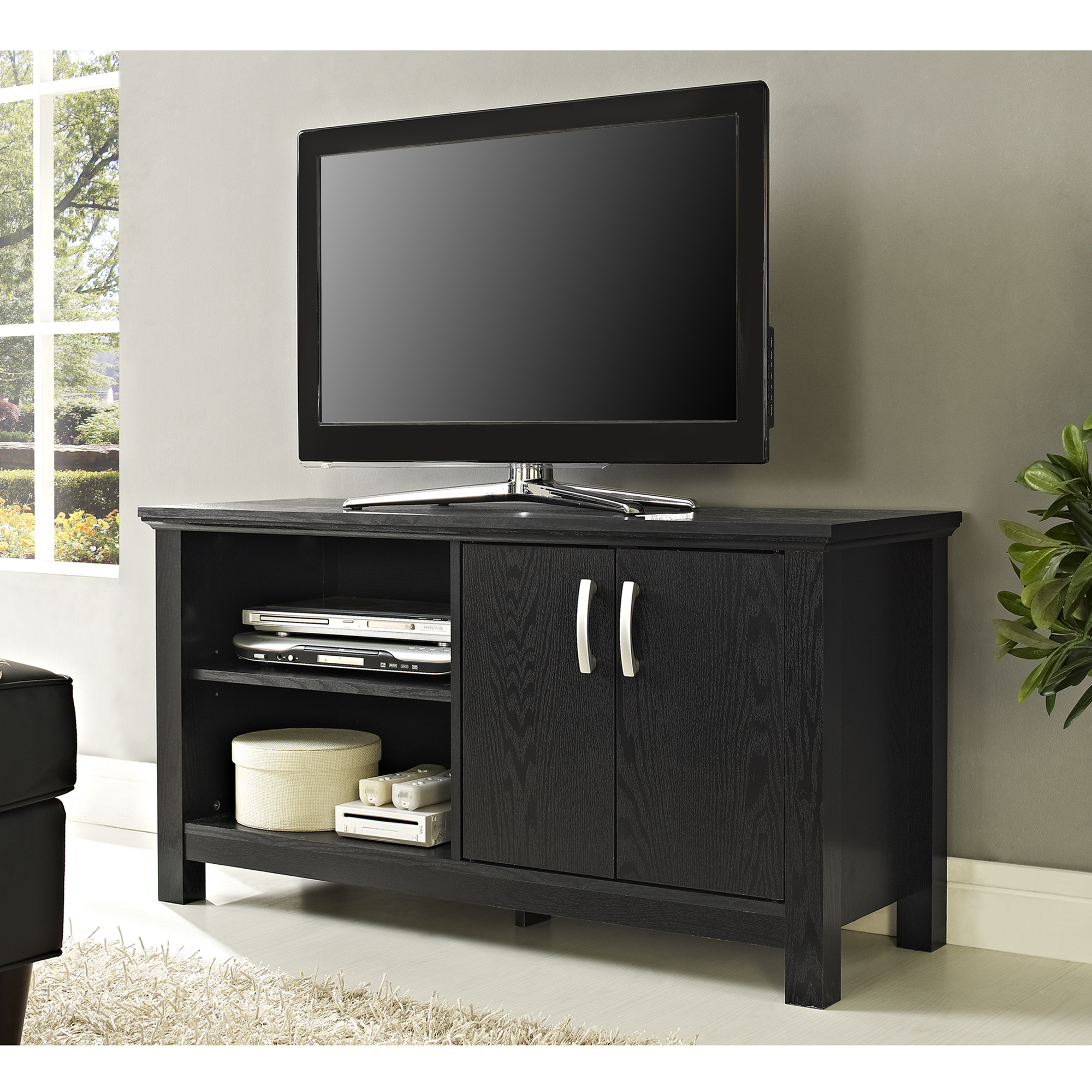 Walker Edison 60 Quot Charcoal Grey Wood Tv Stand Home