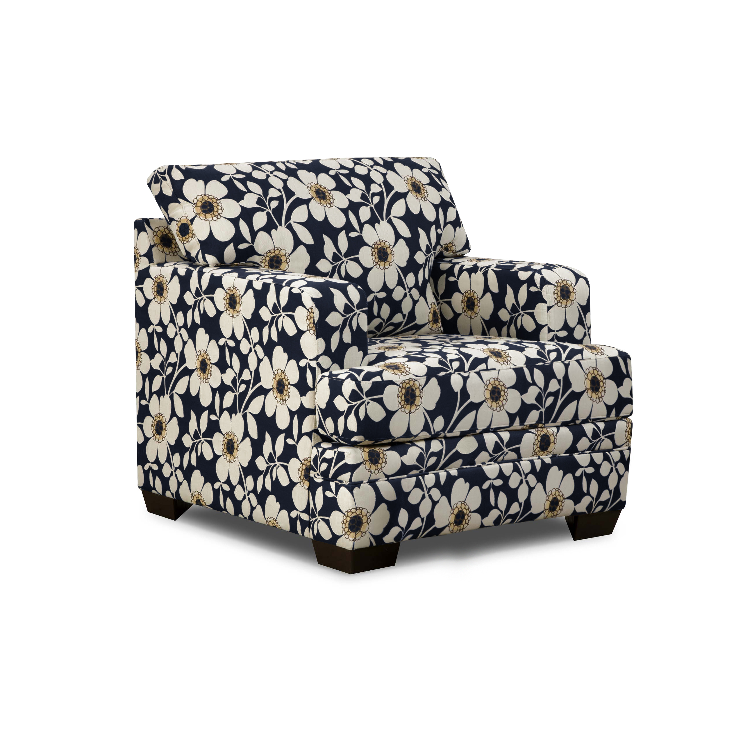 Sears Accent Chairs Check Out Simmons Chicklet Accent Chair Indigo Floral Shopyourway