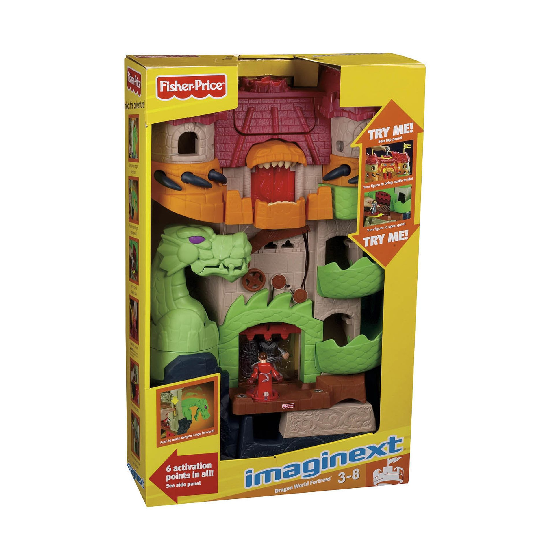 Imaginext Dragon World Fortress - Toys & Games Action