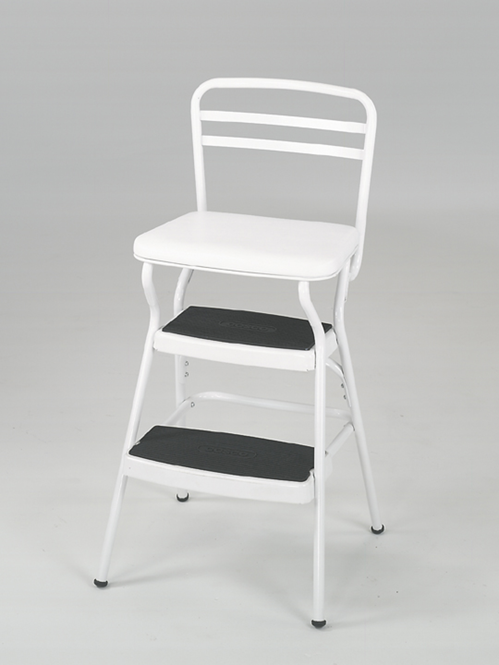 Cosco Step Stool Chair Cosco Home And Office Products White Retro Counter Chair