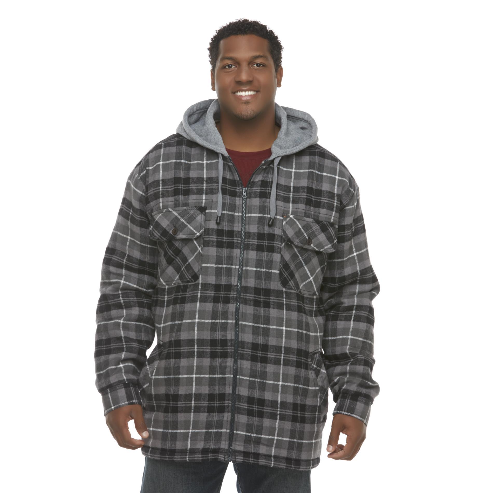 Northwest Territory Mens Big Amp Tall Hooded Flannel Shirt