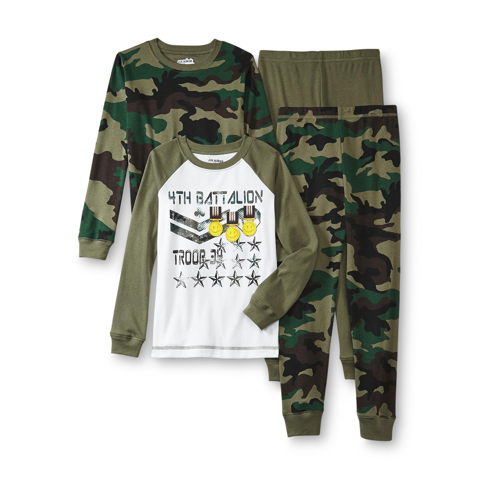 Joe Boxer Boys 2 Pairs Pajamas Camouflage