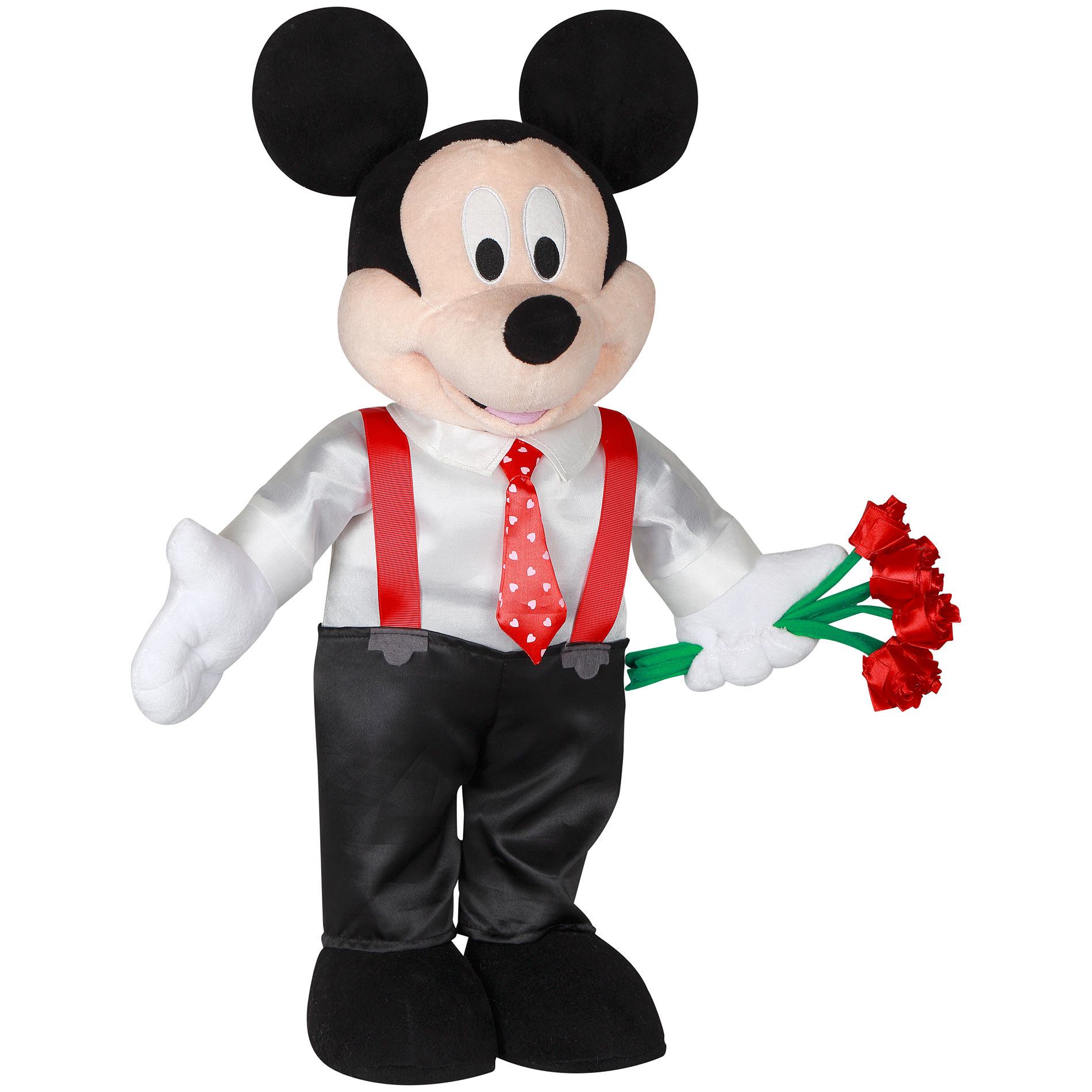 Disney Large Plush Mickey Mouse Valentine Greeter 23in