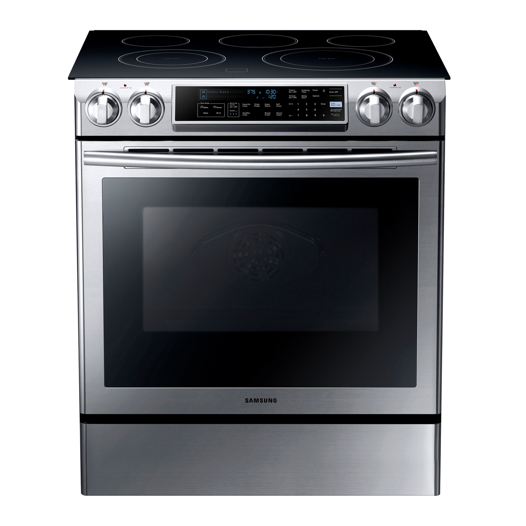 "Samsung - Ne58f9500ss 30"" Slide-in Electric Range"