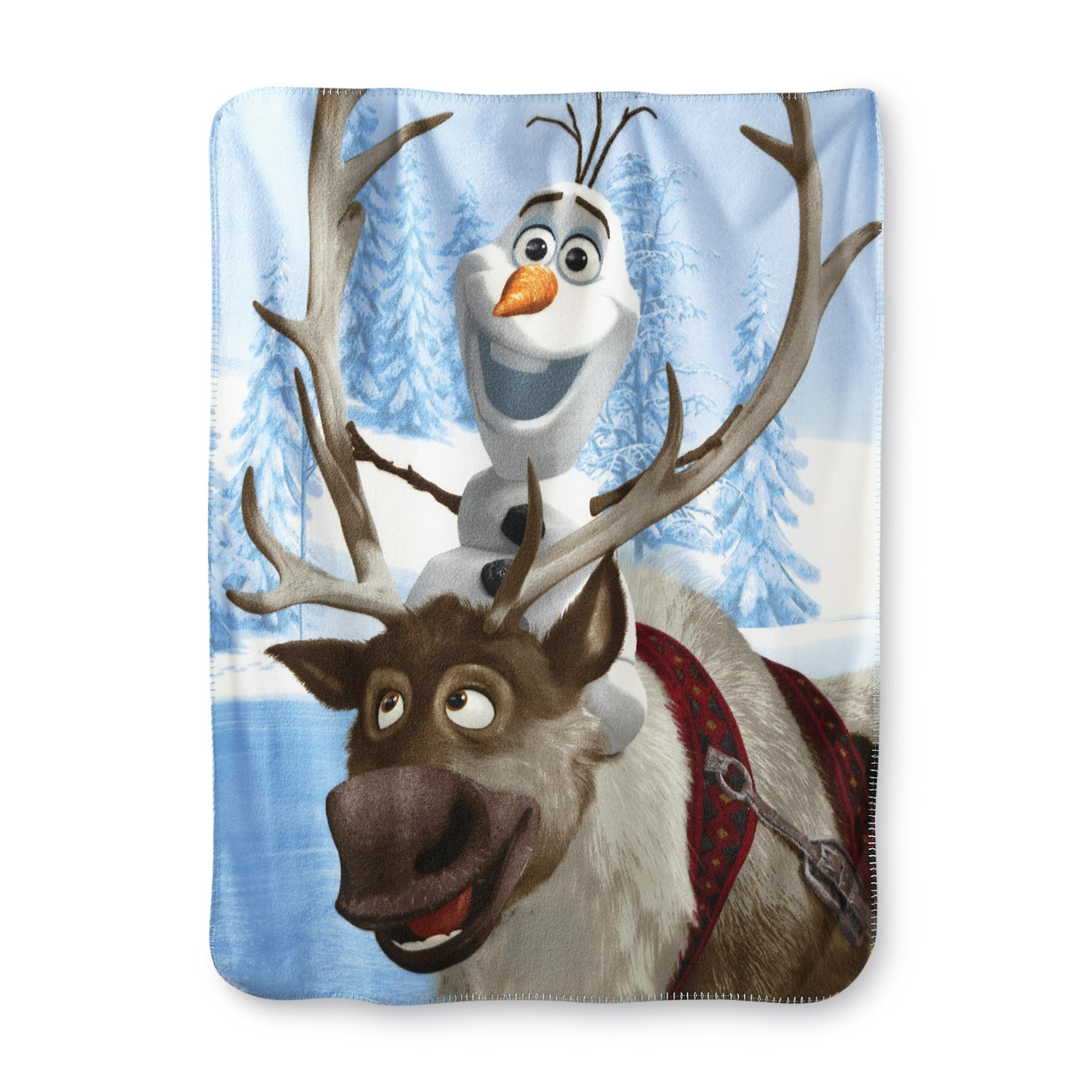 Disney Frozen Fleece Throw  Olaf  Sven