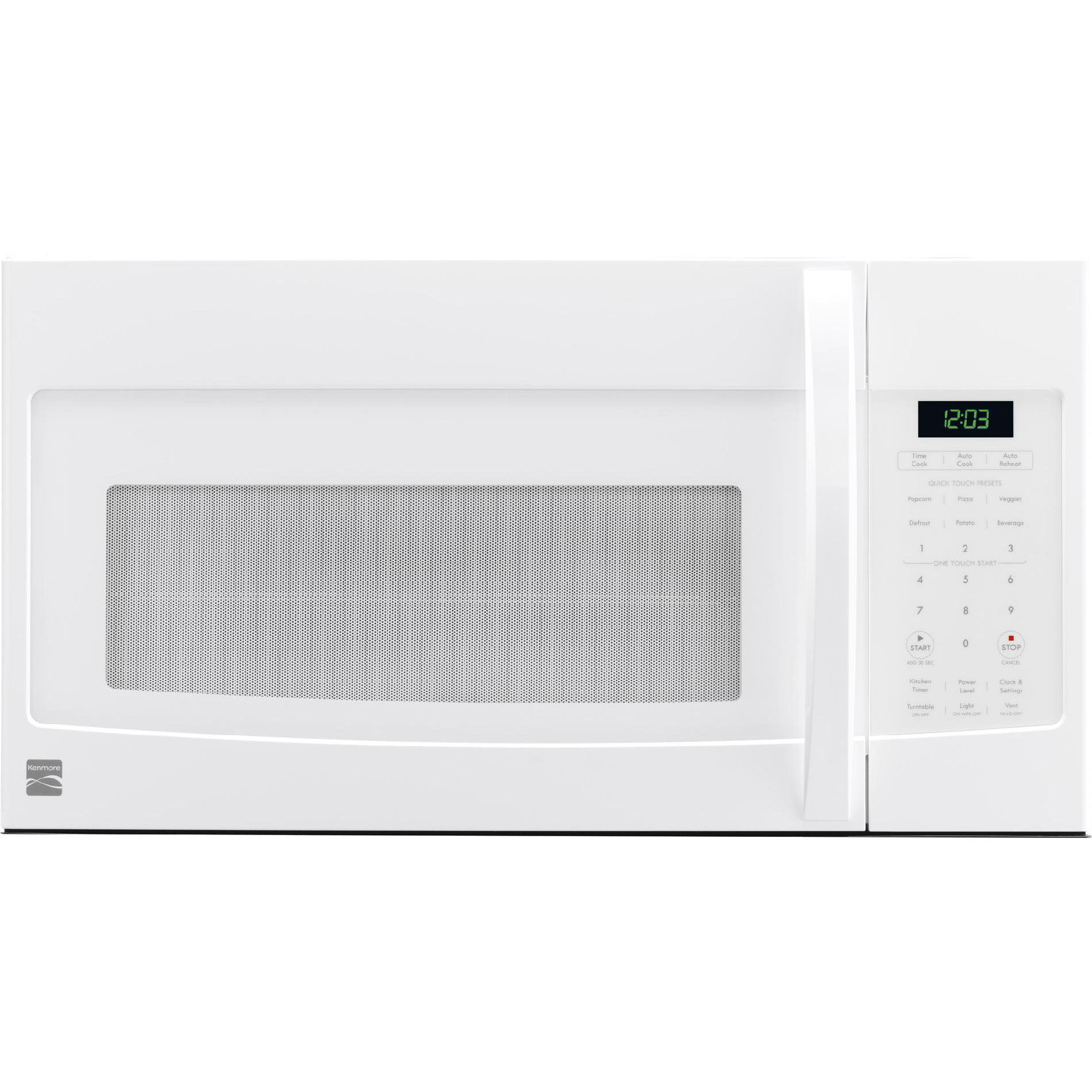 kenmore 80322 1 6 cu ft over the range microwave white