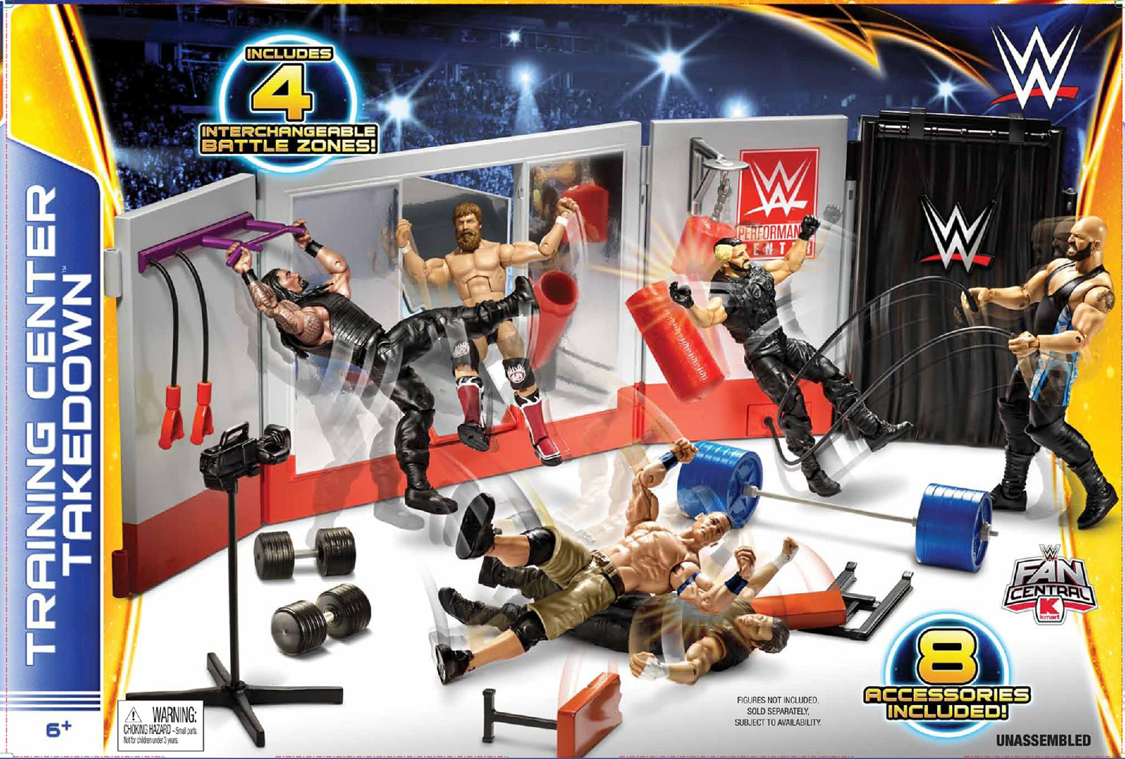 WWE Training Center Takedown Play Set Toy Wrestling