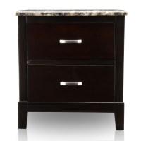 Furniture of America Polak Dark Cherry 2-Drawer Nightstand ...