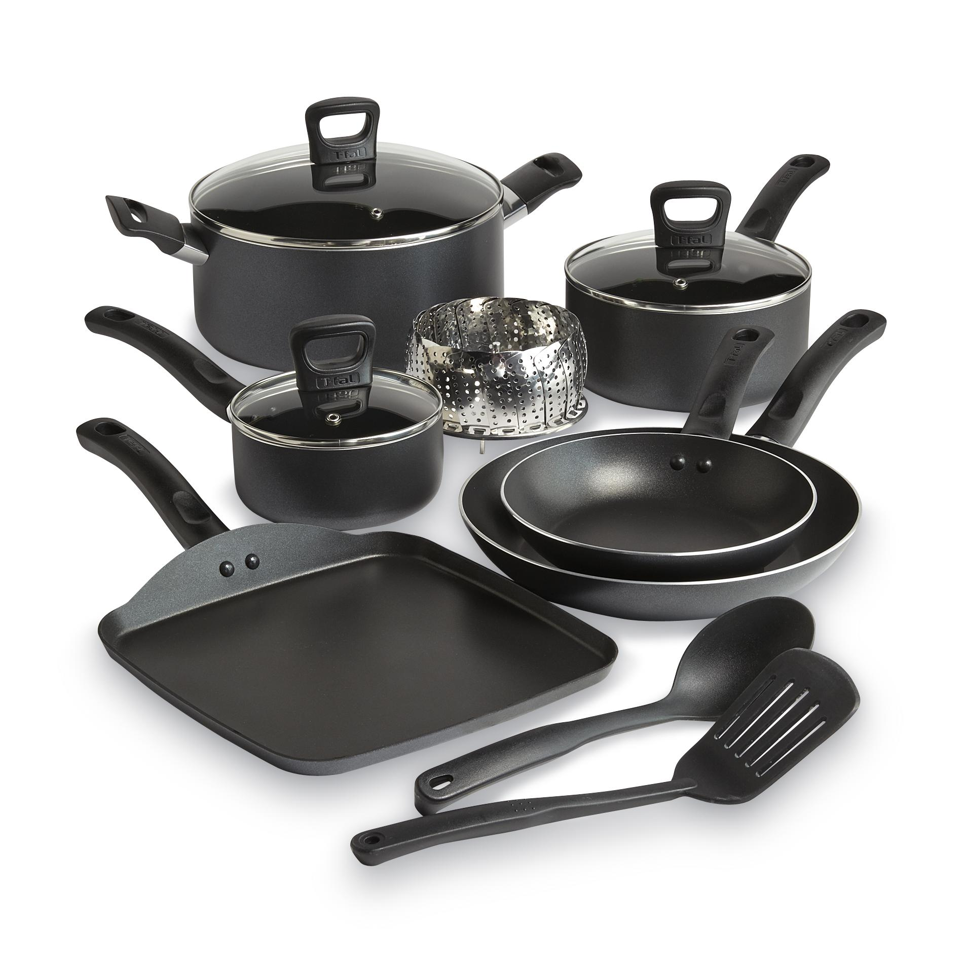 T-fal 12-piece Banquet -stick Gray Cookware Set