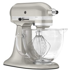 Kitchen Aid Glass Bowl Cream Colored Appliances Kitchenaid Ksm155gbsr Artisan Design Series Sugar Pearl 5