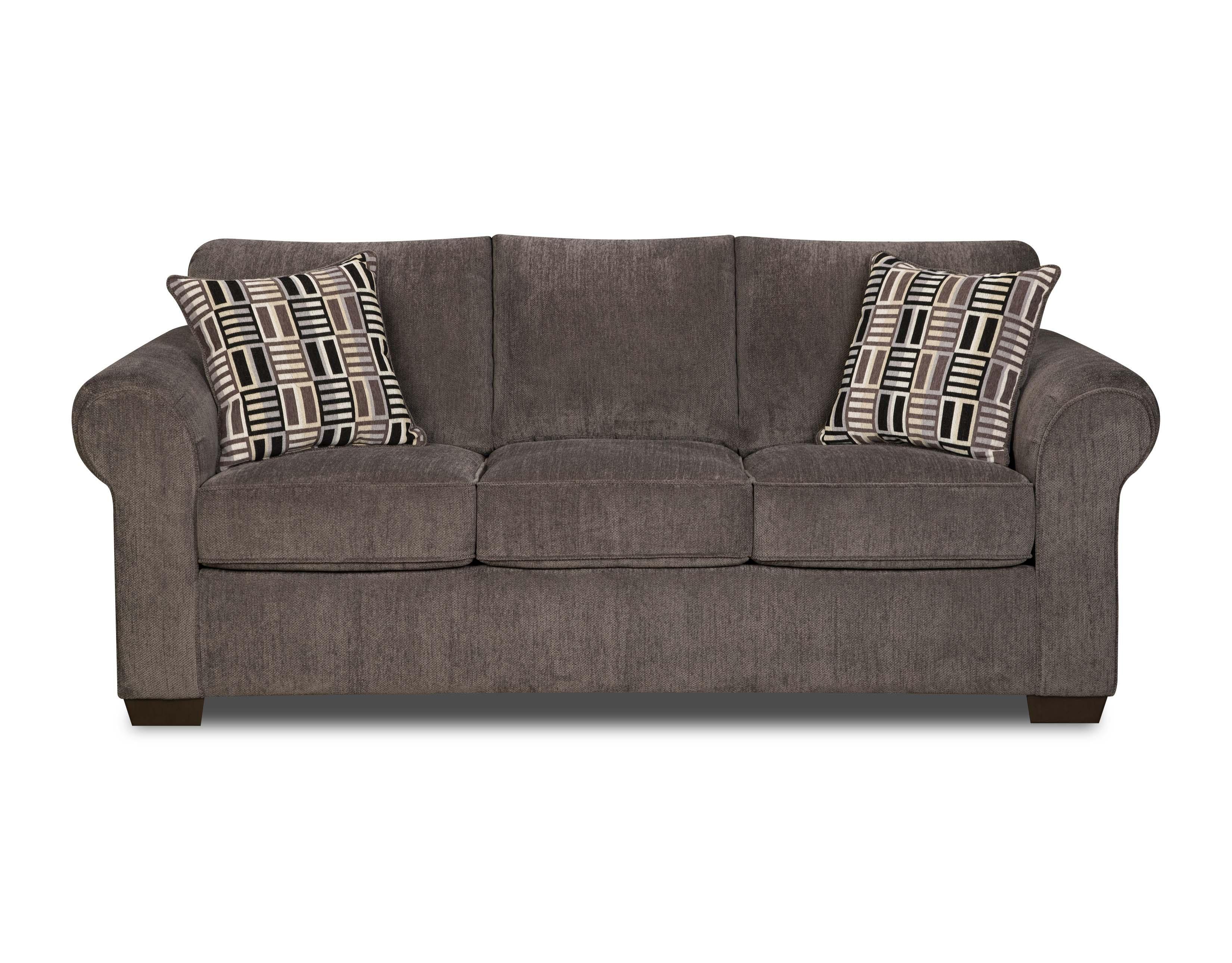 simmons upholstery simmons gray lola full size sleeper sofa
