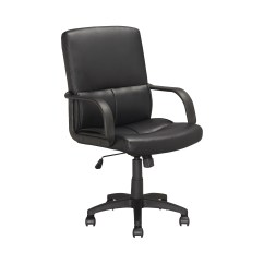 Executive Office Chairs Specifications Reupholster Chair Cushion Corliving In Black Leatherette