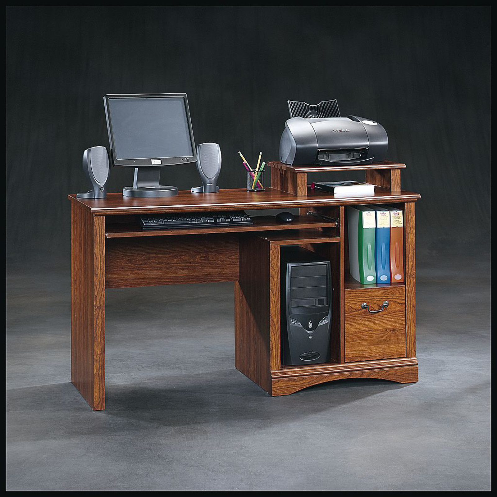Sauder Planked Cherry Computer Desk