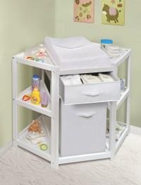 Badger Basket 22009 Diaper Corner Baby Changing Table w ...