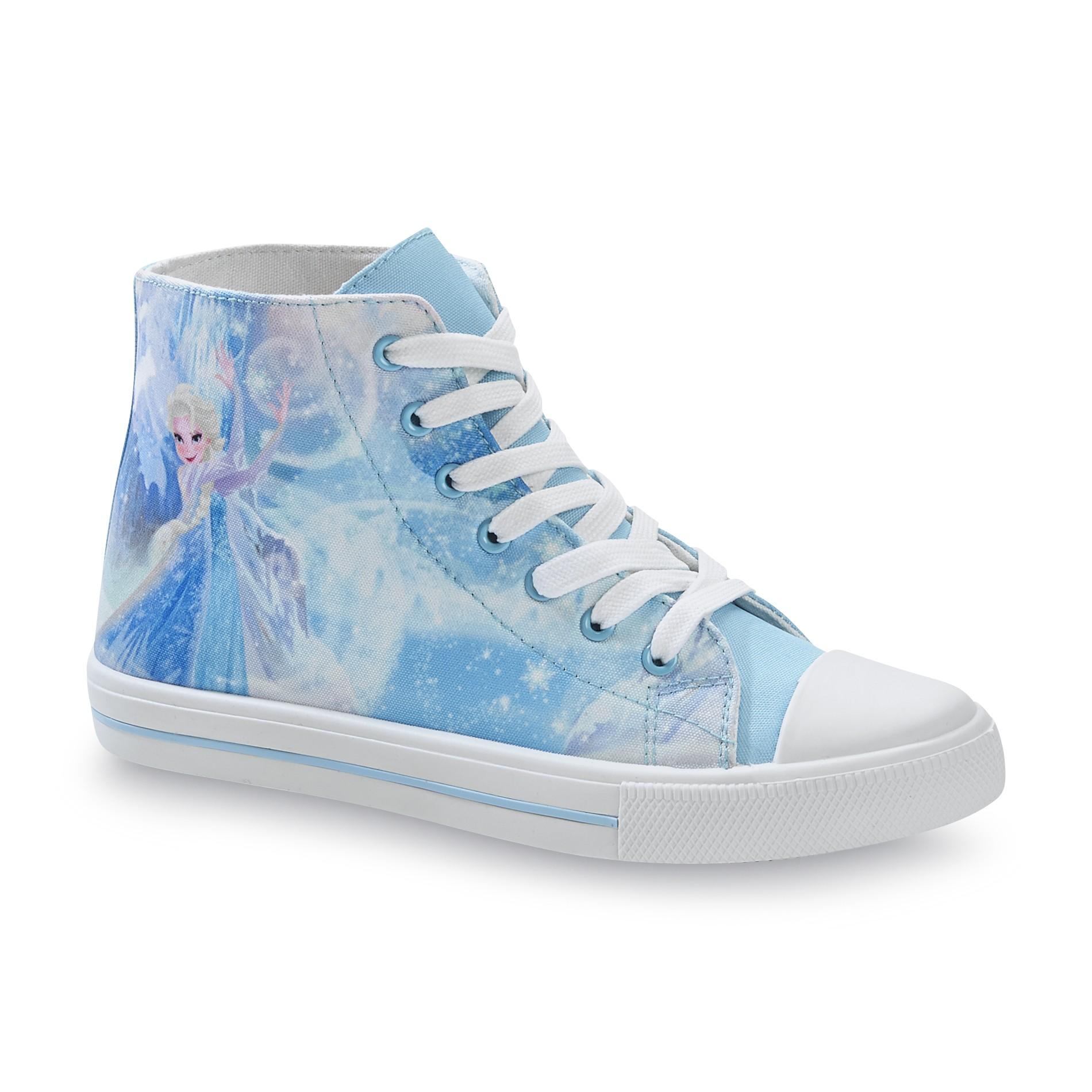 Disney Frozen Womens Light Blue High Top Sneaker