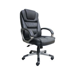 Boss Ntr Executive Leatherplus Chair White Covers With Gold Bows Office Products Black Hugo Leather No Tools Required